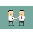 handshake two asian businessmen vector image
