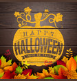 happy halloween banner with autumn vector image