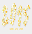 happy new year with flower vector image vector image