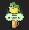 happy st patricks day and tennis ball vector image vector image