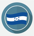 icon honduran flag on white circle with a long vector image vector image