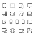 Icon set - responsive devices vector image vector image