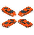 isometric sport cars set car icons in vector image vector image