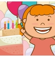 Kids birthday celebration cartoon vector image vector image