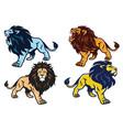 lion roaring stance esport mascot logo vector image vector image