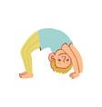 little boy doing yoga vector image vector image