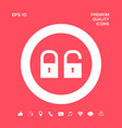 lock unlock - set icon graphic elements for you vector image