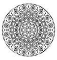 mandala art australian dot painting black vector image vector image