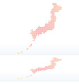 Map of State of Japan with Dot Pattern vector image vector image