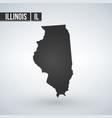 map us state illinois vector image vector image