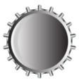 metal bottle cap vector image