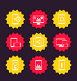 mobile desktop apps icons set vector image vector image