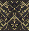modern geometric tiles pattern golden lined shape vector image vector image