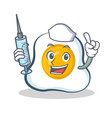 nurse fried egg character cartoon vector image vector image