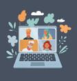 online virtual meetings vector image vector image