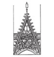 openwork gable from front of rouen cathedral vector image vector image