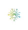 play share logo icon design vector image