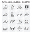 plywood production icon vector image vector image