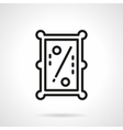 Pool table simple line icon vector image