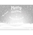 popular christmas card winter forest snowdrifts vector image