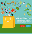products filling a shopping bag online shopping vector image vector image