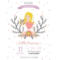 Romantic baby shower card for little girl vector image