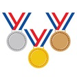 set medals vector image vector image