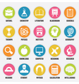 Set of education icons - part 1 vector image vector image