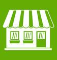 shop icon green vector image vector image