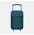 travel bag icon flat style vector image vector image