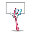 up board toothbrush character cartoon style vector image vector image