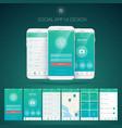 user interface design concept vector image vector image