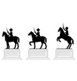 various poses pictograph equestrian statues vector image vector image