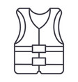 vest line icon sign on vector image
