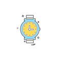 watch icon design vector image