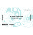 white and blue creative business card template vector image vector image
