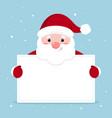 xmas funny santa holding vector image