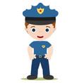 young cop cartoon vector image