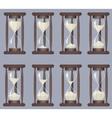 Sandglass icons animation set Time hourglass vector image