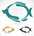 The design of the fish vector image