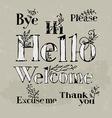 polite words vector image