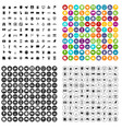 100 cartography icons set variant vector image vector image