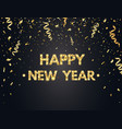 2019 happy new year background with gold confetti vector image