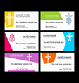 a set of business cards of the church vector image