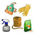 a set of tools for gardening and housework vector image vector image