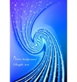 Abstract blue swirl background vector image