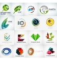 Abstract company logo collection vector image vector image