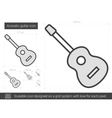 Acoustic guitar line icon vector image vector image