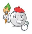 artist golf ball character cartoon vector image