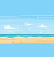 background of sea shore vector image vector image